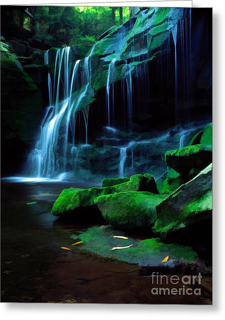 Fresh Green Greeting Cards - Morning Solitude Greeting Card by Darren Fisher