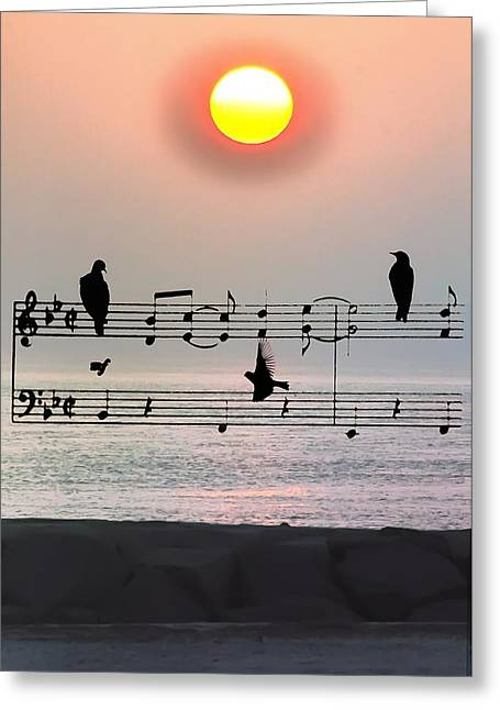 Sea. Morning Greeting Cards - Morning Song Greeting Card by Bill Cannon