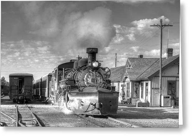 Narrow Gauge Steam Engine Greeting Cards - Morning Special Greeting Card by Ken Smith