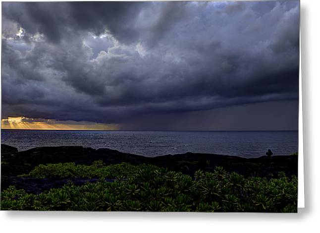Keaau Greeting Cards - Morning Squall Greeting Card by Mike Herdering