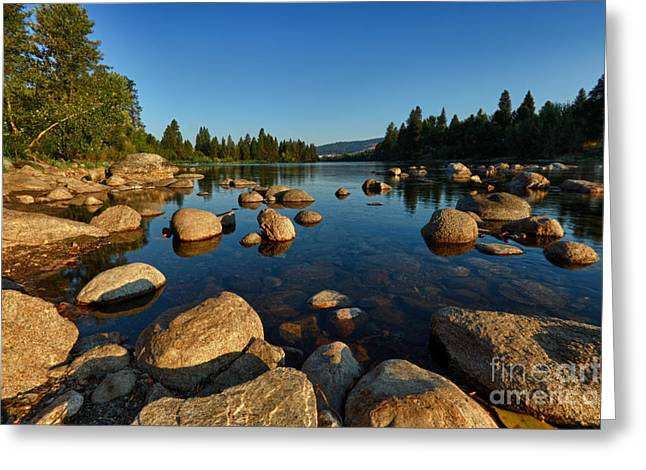 Spokane Greeting Cards - Morning Warmth Greeting Card by Reflective Moment Photography And Digital Art Images
