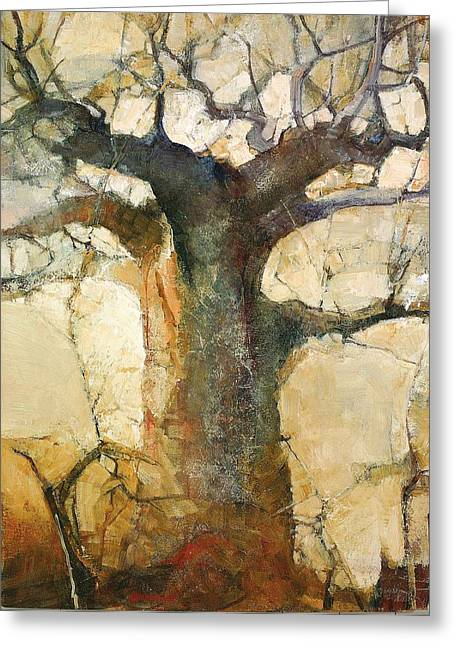 Zimbabwe Paintings Greeting Cards - Morninglight Greeting Card by Wendy Rosselli