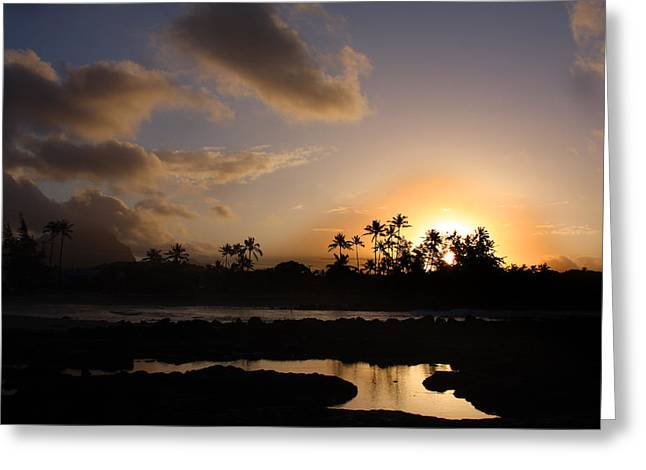 Poipu Greeting Cards - Mornings in Poipu Greeting Card by Jeff Bord