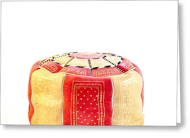 Homely Greeting Cards - Moroccan cushion Greeting Card by Tom Gowanlock
