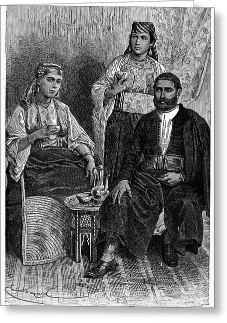 Housemaid Greeting Cards - MOROCCAN JEWS, c1892 Greeting Card by Granger