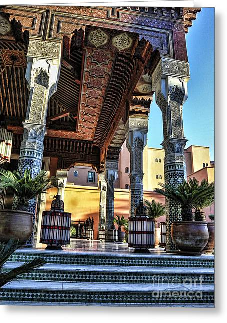 Rabat Photographs Greeting Cards - Morocco Architecture II Greeting Card by Chuck Kuhn