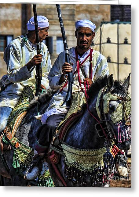 Rabat Photographs Greeting Cards - Morocco Dual Greeting Card by Chuck Kuhn