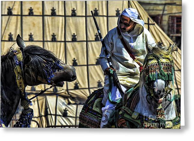 Morocco Festival II Greeting Card by Chuck Kuhn