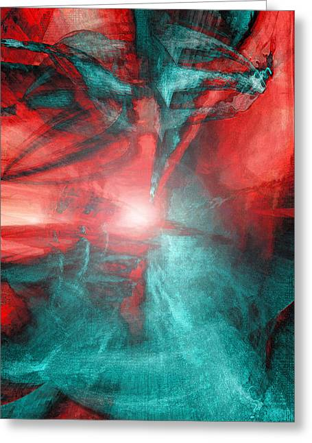 Morphing Digital Greeting Cards - Morphing Thru Time Greeting Card by Linda Sannuti