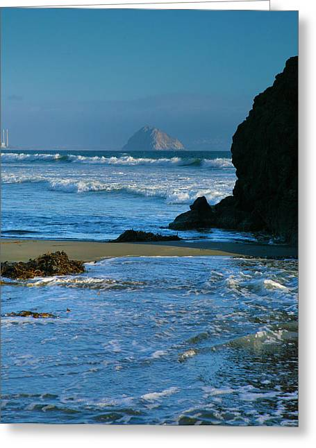 Pacific Ocean Prints Greeting Cards - Morro Bay Shoreline II Greeting Card by Steven Ainsworth