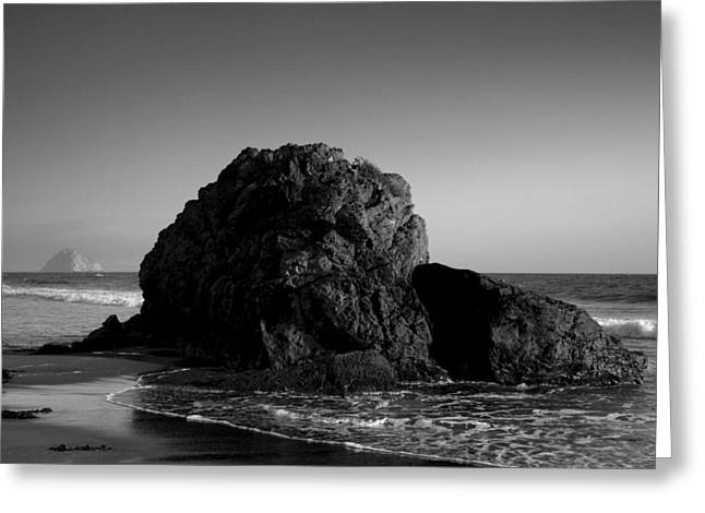 Pacific Ocean Prints Greeting Cards - Morro Bay Shoreline III Greeting Card by Steven Ainsworth