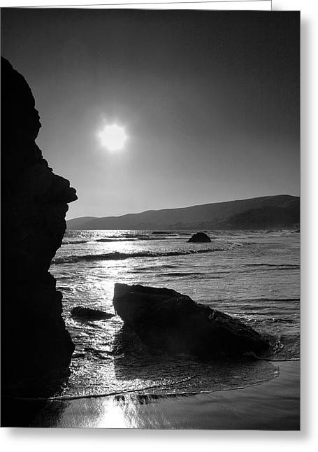 Pacific Ocean Prints Greeting Cards - Morro Bay Shoreline IV Greeting Card by Steven Ainsworth