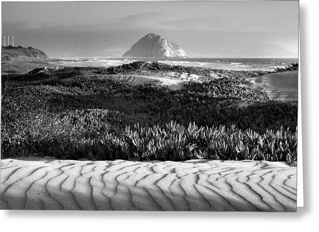 Pacific Ocean Prints Greeting Cards - Morro Rock and Beach II Greeting Card by Steven Ainsworth