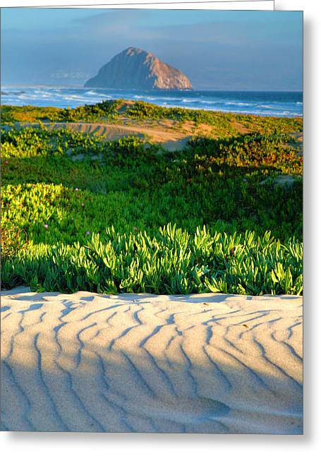 Pacific Ocean Prints Greeting Cards - Morro Rock and Beach III Greeting Card by Steven Ainsworth