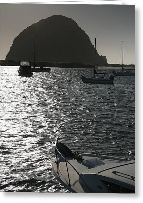 Pacific Ocean Prints Greeting Cards - Morro Rock And Harbor II Greeting Card by Steven Ainsworth