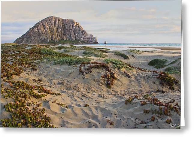 Office Space Greeting Cards - Morro Rock Greeting Card by Heidi Smith