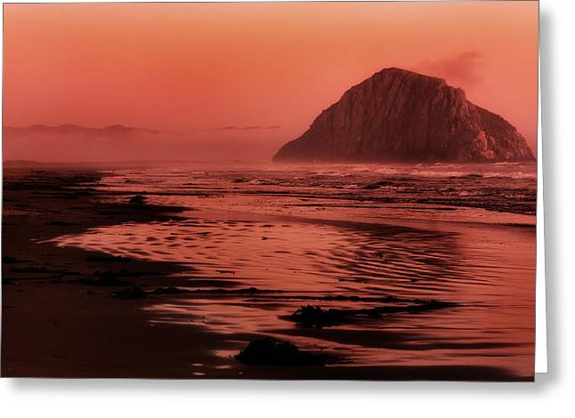 Sunset Seascape Greeting Cards - Morro Sunset Greeting Card by Matt  Trimble
