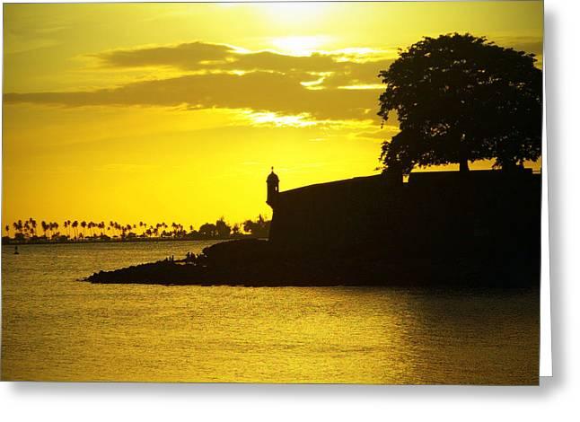 Morros Greeting Cards - Morro Sunset Greeting Card by Mauricio Jimenez