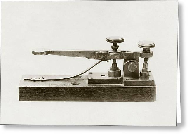 Morse Telegraph Key Greeting Card by Miriam And Ira D. Wallach Division Of Art, Prints And Photographsnew York Public Library