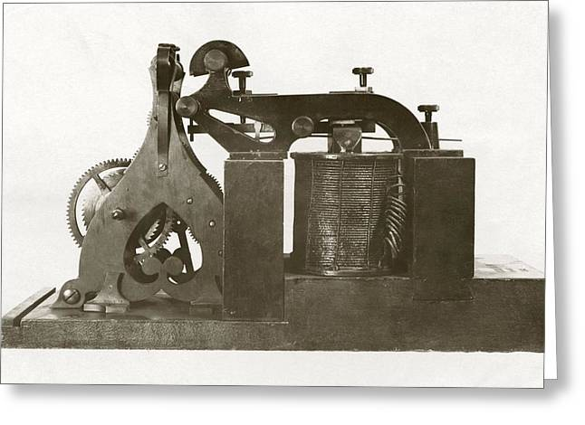 Transmitter Greeting Cards - Morse Telegraph Recording Receiver Greeting Card by Miriam And Ira D. Wallach Division Of Art, Prints And Photographsnew York Public Library