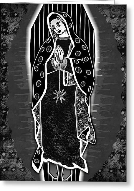 Travis Burns Greeting Cards - Morticia Guadalupe Greeting Card by Travis Burns