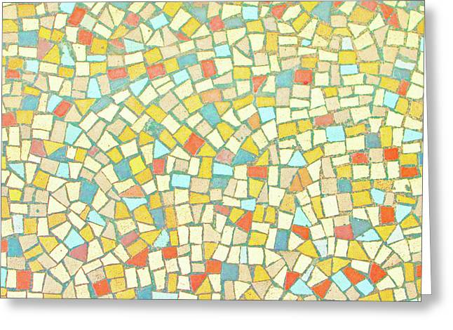 Glass Reflecting Greeting Cards - Mosaic background Greeting Card by Tom Gowanlock