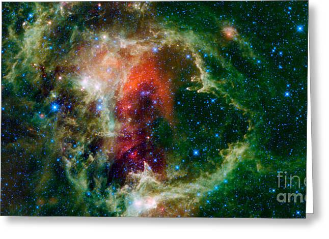 Star Formation Greeting Cards - Mosaic Is Of The Soul Nebula Greeting Card by Stocktrek Images