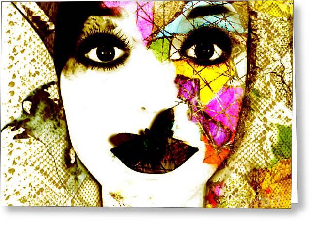 Mosaic Portraits Mixed Media Greeting Cards - Mosaic Greeting Card by Jenn Bodro