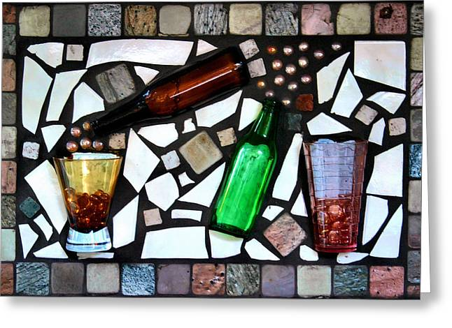 Repurposed Greeting Cards - Mosaic Greeting Card by Kristin Elmquist