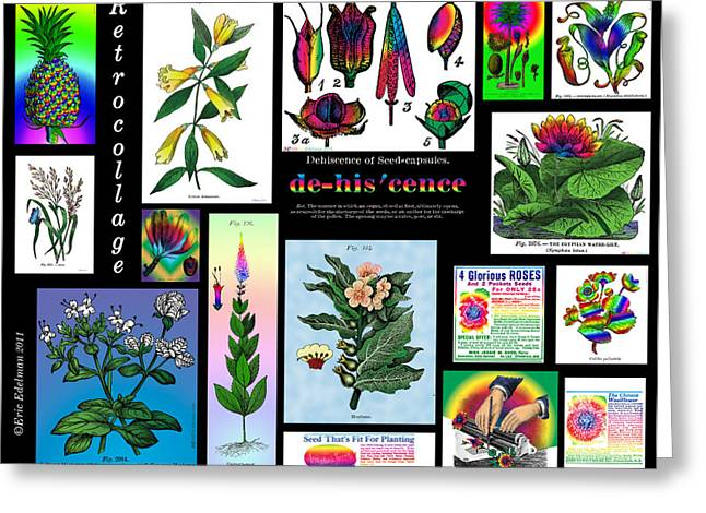 Cropped Mixed Media Greeting Cards - Mosaic of RetroCollage II Greeting Card by Eric Edelman