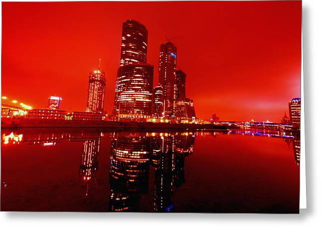 After Greeting Cards - Moscow-City Greeting Card by Gennadiy Golovskoy