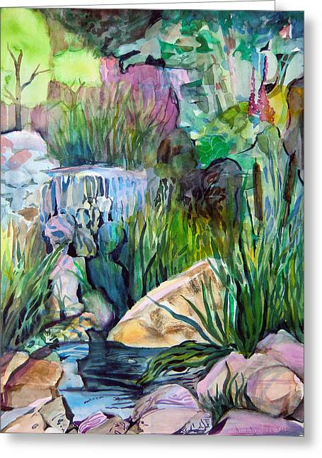 Mystical Landscape Mixed Media Greeting Cards - Moses in the Bull Rushes Greeting Card by Mindy Newman
