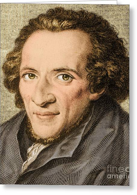 Reform Greeting Cards - Moses Mendelssohn, German Philosopher Greeting Card by Photo Researchers
