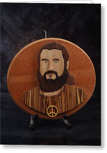 Intarsia Sculptures Greeting Cards - Moses Greeting Card by Steve Weber