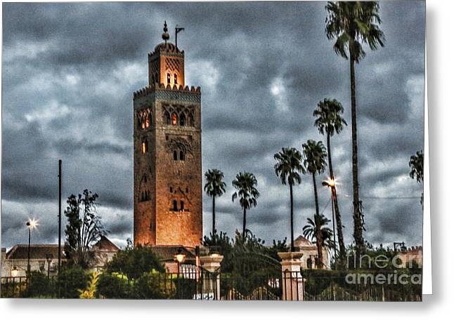 Rabat Photographs Greeting Cards - Mosque Marrakesh I Greeting Card by Chuck Kuhn