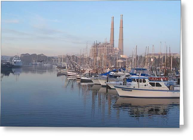 Moss Landing Boats Greeting Cards - Moss Landing Harbor Greeting Card by Jim Salisbury