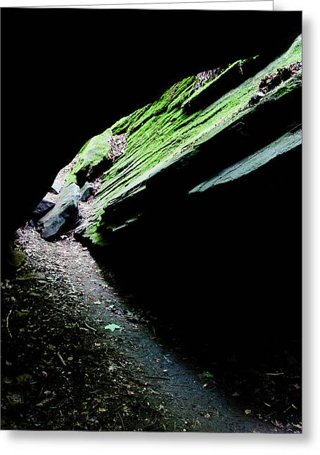 Turkey Run State Park Greeting Cards - Mossy Cave Greeting Card by Adam Pender