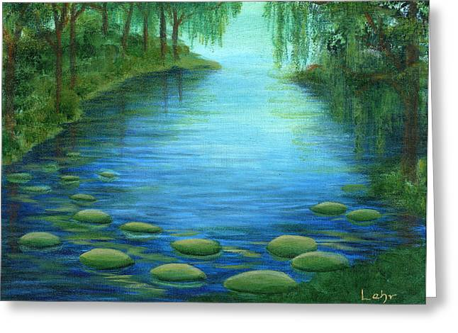 Diana Lehr Greeting Cards - Mossy Cove Greeting Card by Diana Lehr