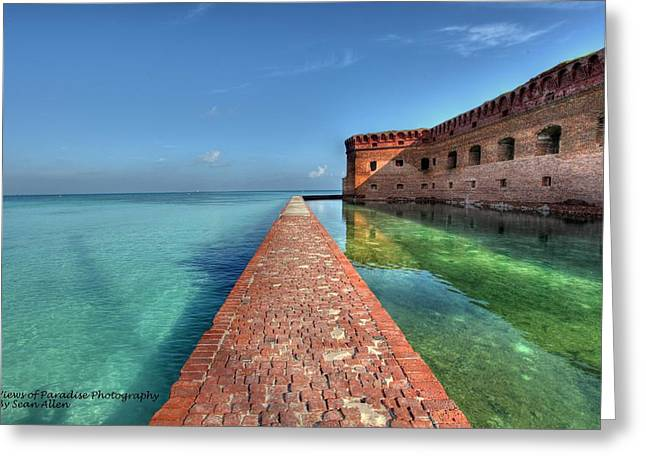Mote Wall Walk Greeting Card by Sean Allen