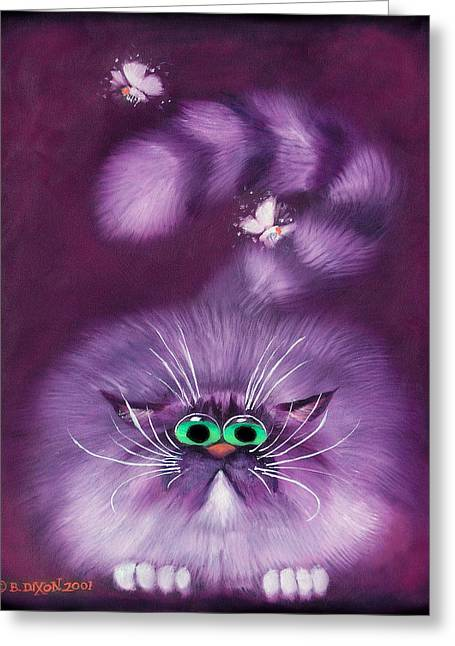 Mischief Greeting Cards - Moth Hunter Greeting Card by Baron Dixon