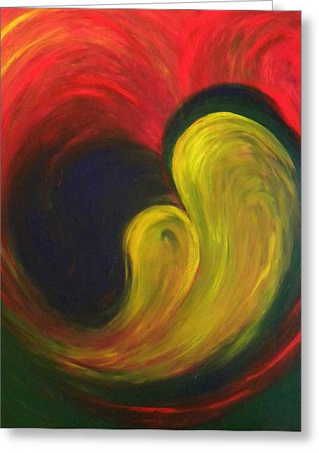 Abstract Woman In Color Greeting Cards - Mother And Baby Greeting Card by Fanny Diaz