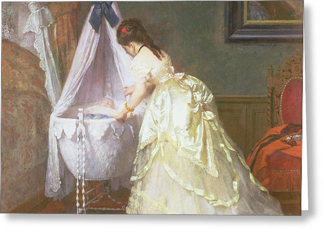 Mother and Baby Greeting Card by Fritz Paulsen