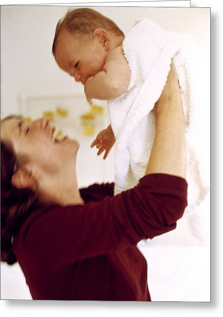 Caring Mother Greeting Cards - Mother And Baby Greeting Card by Ian Boddy