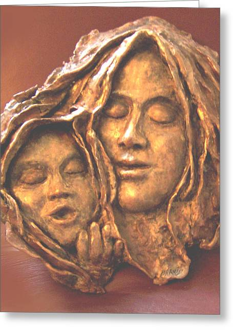 Mother Sculptures Greeting Cards - Mother and Child Greeting Card by Beverly Barris