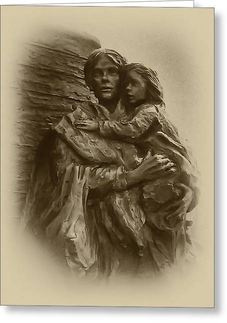 Irish Farm Greeting Cards - Mother and Child Greeting Card by Bill Cannon