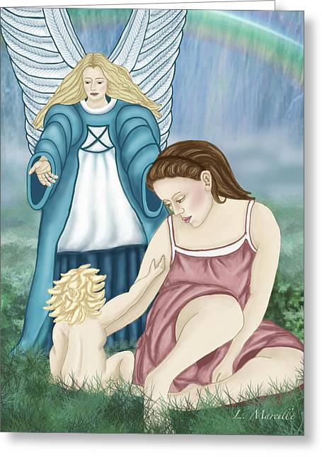 Linda Marcille Greeting Cards - Mother and Child Greeting Card by Linda Marcille