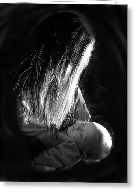 Mother And Child Greeting Card by Sheri Lauren Schmidt