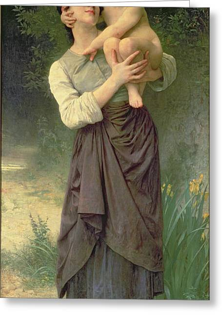 Embrace Greeting Cards - Mother and Child Greeting Card by William Adolphe Bouguereau