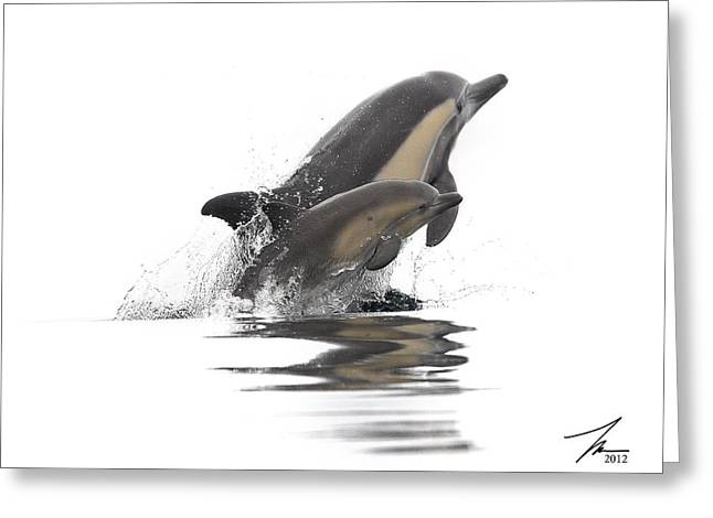 Ventura California Greeting Cards - Mother and Daughter Exiting the Water Greeting Card by Steve Munch