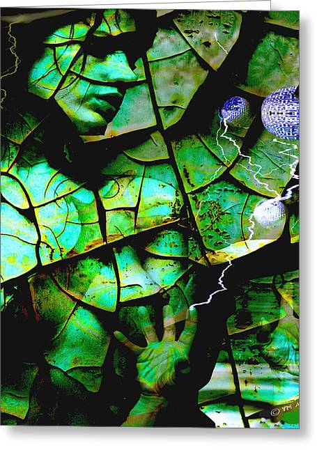 Gaia Greeting Cards - Mother Earth Greeting Card by Yvon van der Wijk
